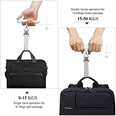 QUMOX High Precision Digital Travel Scale for Suitcase luggage Weight 110lb 50KG Capacity, Heavy Duty Hanging, Silver