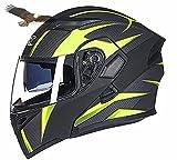 X.N.S(希望)G-902 バイクヘルメット フルフェイスヘルメット システムヘルメット モンスターエナジー ダブルシールド ジェット ヘルメット (M, 商品8)