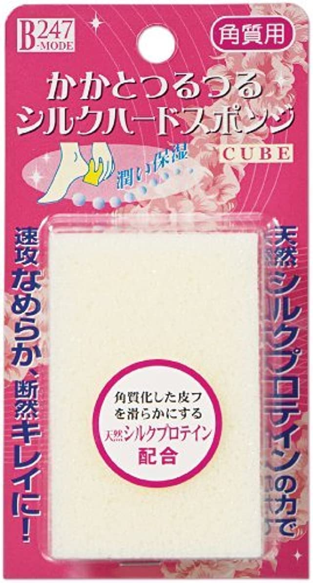 刈り取るエピソードロックミノウラ かかとつるつる シルクハードスポンジ キューブ 1個入 × 5個セット