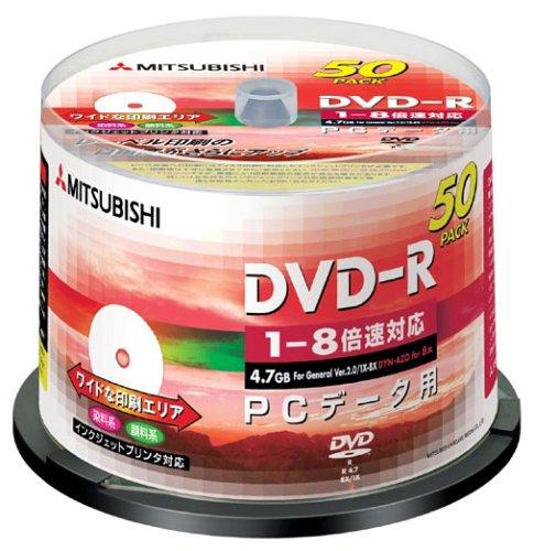 三菱化学メディア DHR47HP50 DVD-R(Data)4.7GB*50枚スピンドル
