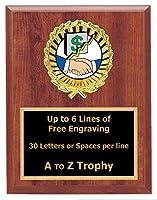 セールスPlaque Trophy 7x 9木製ビジネス従業員Trophies Awards Free Engraving