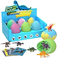 Bath Bombs for Kids, Big Dino Egg With Surprise Toys Inside - Dinosaur in Each Fizzy, Perfect Bubble & Spa