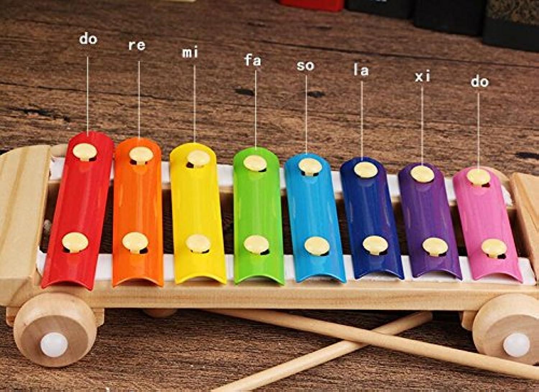 幼児期のゲーム 8つの音はピアノを音楽を学ぶために玩具に沿って引っ張る