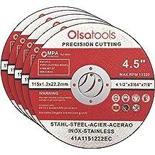 "Olsa Tools Cut Off Wheels, 4.5"" x 0.04"" x 7/8"", 5 Pack Cutting Wheels | 5pcs Thin Angle Grinder Cutting Wheel | Grinder Wheel for Fabrication | Cutting Wheel and Cut off Wheel for Metal Fab"""