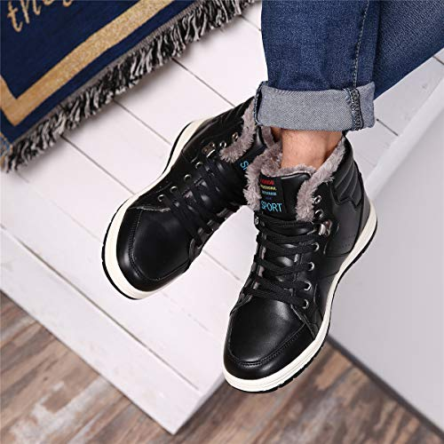 4e7c5204b735a0 [SIXSPACE] スノーブーツ メンズ 防水 防寒靴 スノーシューズ 防滑 アウトドアシューズ ウィンターブーツ 綿雪靴 ...