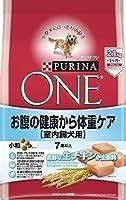 (まとめ買い)ピュリナワン ドッグ 室内飼犬用 お腹の健康から体重ケア 7歳以上 小粒 チキン 2.1Kg ドッグフード 【×3】