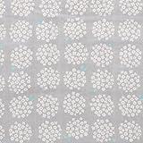 小さなポンポンフラワー ダブルガーゼ 生地 全5色 50cm単位販売 布 生地 国産 綿100% (グレー)