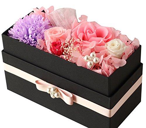 Azurosa(アズローザ) プリザーブドフラワー ギフト ボックス 枯れない花 フレグランスソープ ピンクラベンダー
