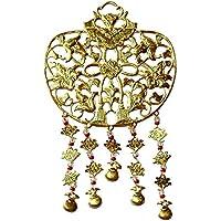 仏壇用 金華鬘(かねけまん/きんけまん) 銅製 透かし有り 金メッキ 1.4寸(j1459)