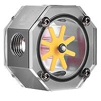VBESTLIFE G1/4水冷式冷却水流量計 アルミ合金製 防過熱 超耐久性 PC水冷システム コンピュータ用水冷却用キット(グレー)