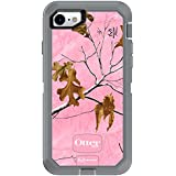 OtterBox DEFENDER SERIES Case for iPhone 8 & iPhone 7 (NOT Plus) - Retail Packaging - REALTREE XTRA PINK (WHITE/GUNMETAL GREY/XTRA PINK DESIGN)