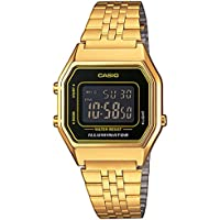 Casio LA680WEGA-1BER Gold Unisex Bracelet Digital Alarm Watch LA680WEGA/1B