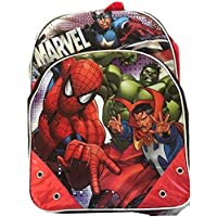 """The Avengers Spiderman 16"""" Backpack Large Hulk Captain America"""