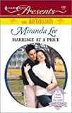 Marriage At A Price (The Australians) (Harlequin Presents)