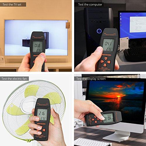 Meterk 電磁波計 電磁波測定器 EMF検出器 線量計 電磁場放射テスター EMFメーター ハンドヘルド ミニ デジタル LCD