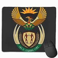 南アフリカの国章 マウスパッド 25×30 大判 ノンスリップ 防水 ゲーミング おしゃれ マウスの精密度を上がる