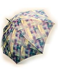 NOBEL[ノーベル] 雨傘 レディース 長傘 婦人 日本製 ポリエステル 波線ぼかしプリント 軽量 グレー