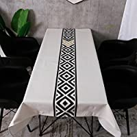 フォークカスタムテーブルクロス、ジオメトリパターンコットンとリネンの長方形コーヒーテーブルテーブルクロスレストランダイニングテーブルクロスアートテーブルクロス85-135CM (色 : B, サイズ さいず : 135*180CM)