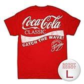 コカ・コーラ クラシックTee/Coca Cola Classic Wave T-Shirt ロゴTシャツ L【並行輸入】