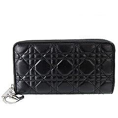 クリスチャンディオール Dior 長財布 ラウンドファスナー LADY DIOR ブラック CAL43047P N0A3U 900U 【並行輸入品】