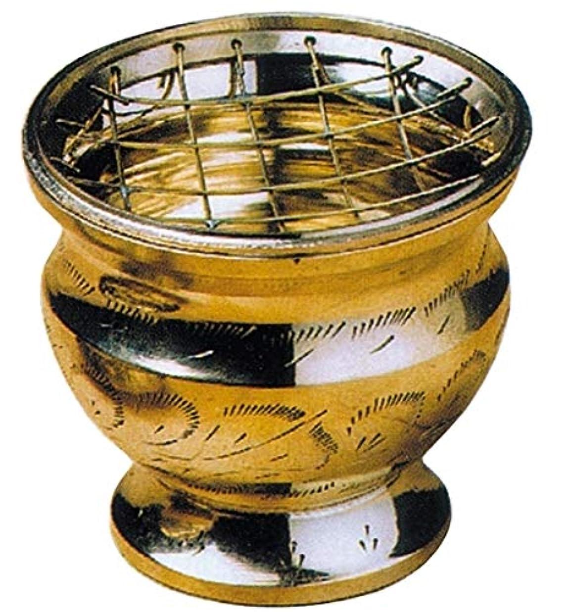 抑止する膨らませる水銀のRäuchergefäß mit Netzeinsatz, 7 cm hoch, Messing