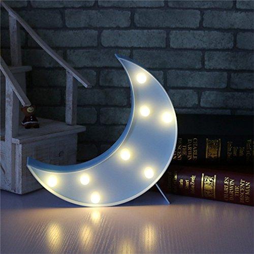 LED ベッドサイトランプ イルミネーションライト ホームイベント インテリア ギフト (ブルー月)
