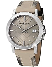 [バーバリー] Burberry 腕時計 Women's Large Check Tan Leather and Canvas Strap Cream Dial Watch スイス製クォーツ BU9021 メンズ 【並行輸入品】