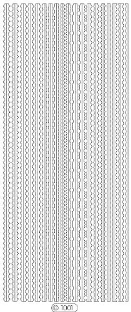 違うハイランド振る舞いロココシール C1001 (シルバー)
