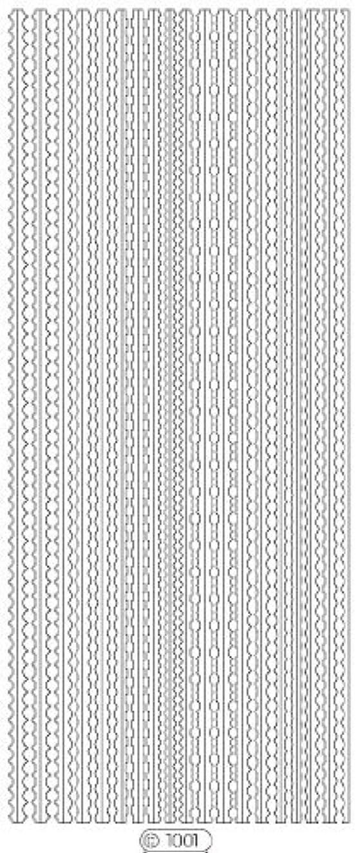 ジョージバーナード文シーフードロココシール C1001 (シルバー)