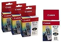 Canon bci-21インクカートリッジ5パック、3ブラックと2色)