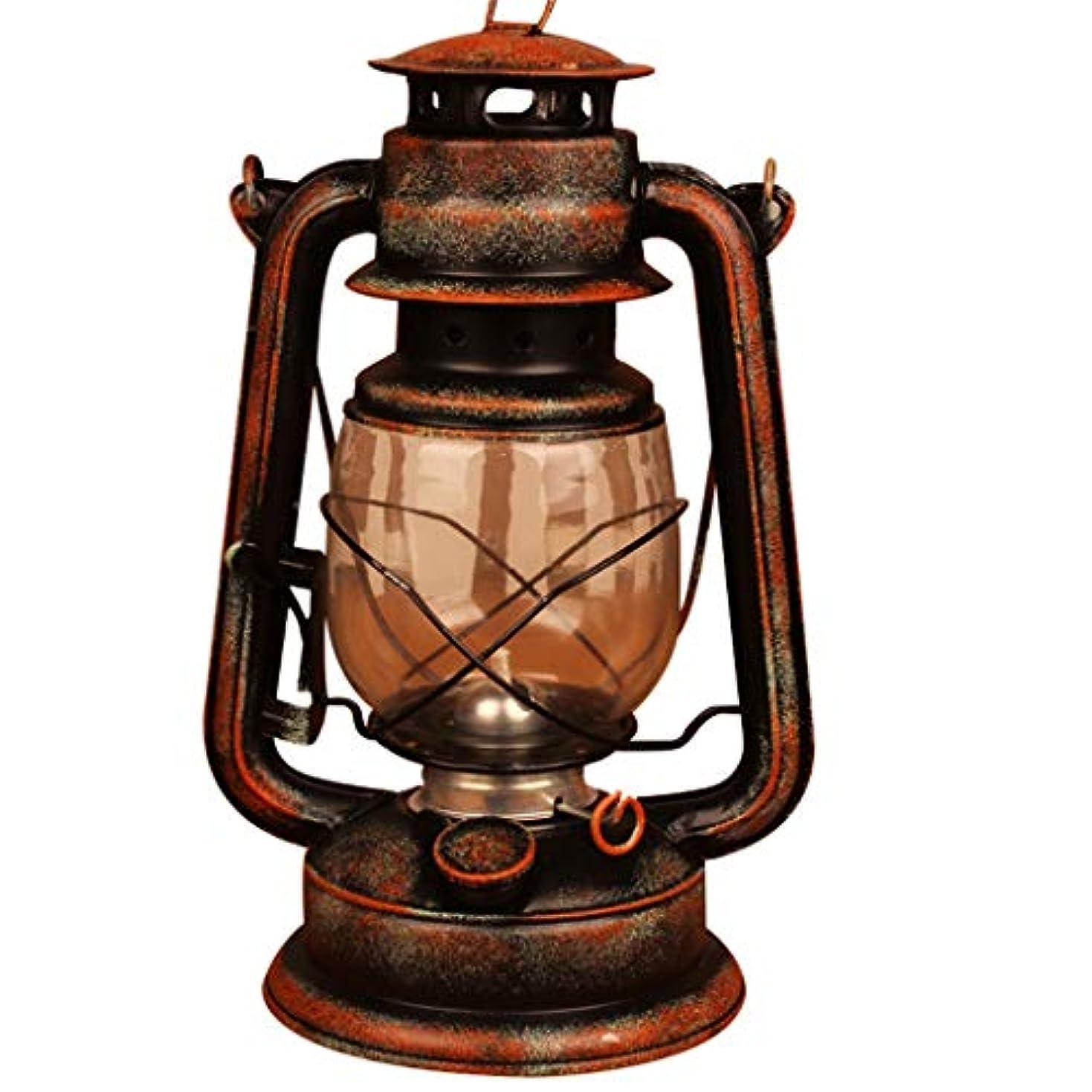 サミット野生大破28センチオールドブロンズ灯油ランプ/オールドオイルランプ/ヴィンテージ馬のランプ、農場に適したレトロなノスタルジックな写真撮影の小道具、キャンプ(オールドイエロー)