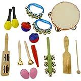 KESOTO 楽器おもちゃセット 打楽器セット 音楽玩具 誕生日 出産祝い 収納バッグ付き 全10種