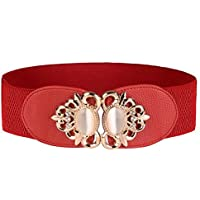 Women Girls Elastic Stretch Wide Waist Belt in Vintage Palace Style 6 Colors