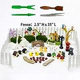 BangBangDa Miniature Fairy Garden Ornaments Kit - Mini Accessories Set for DIY Dollhouse Succulent Planter Garden Decor (55PCS Set)