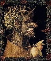 ¥5K-200k 手書き-キャンバスの油絵 - 美術大学の先生直筆 - Winter Giuseppe Arcimboldo 絵画 洋画 複製画 ウォールアートデコレーション -サイズ06