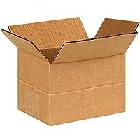 Aviditi MD644 Corrugated Multi-Depth Corrugated Box 6 Length x 4 Width x 4 Height Kraft (Bundle of 25) [並行輸入品]