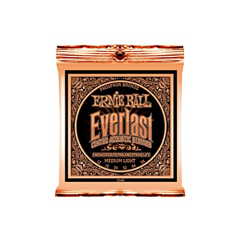 ERNIE BALL 2546 Everlast Coated PHOSPHOR BRONZE MEDIUM LIGHT アコースティックギター弦 ×6セット