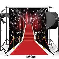 GooEoo 8 x 8フィートレッドカーペットビニール写真背景カスタマイズされた写真の背景スタジオプロップ10500