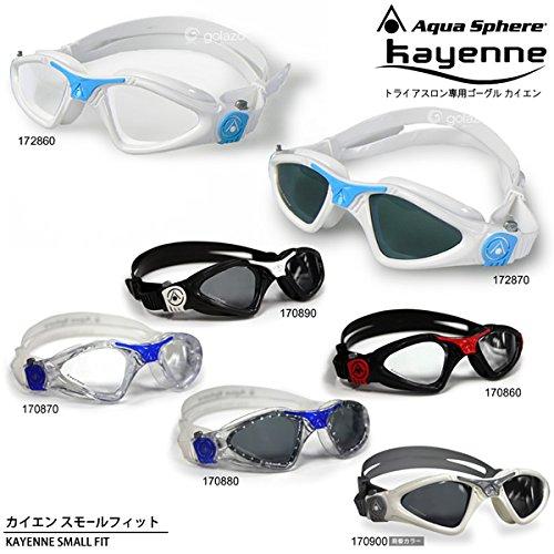 Aqua Sphere/アクアスフィア カイエン(KAYENNE) スモールフィット(トライアスロン用ゴーグル/水泳用ゴーグル) ダークレンズ BLK/WHT(170890)