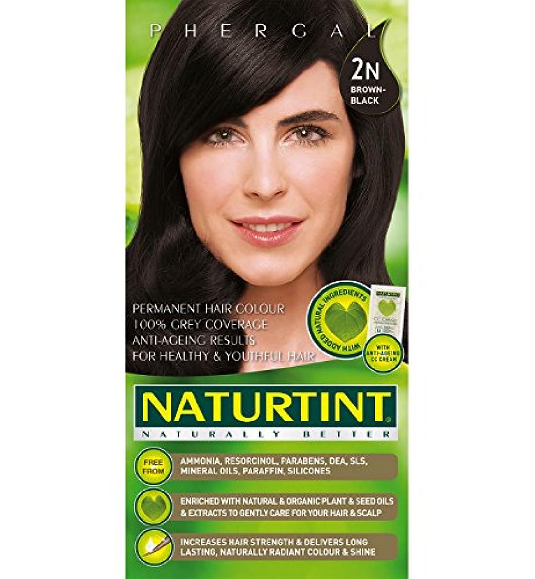 路面電車前提条件伝統Naturtint Hair Color 2N Brown Black Permanent (並行輸入品)