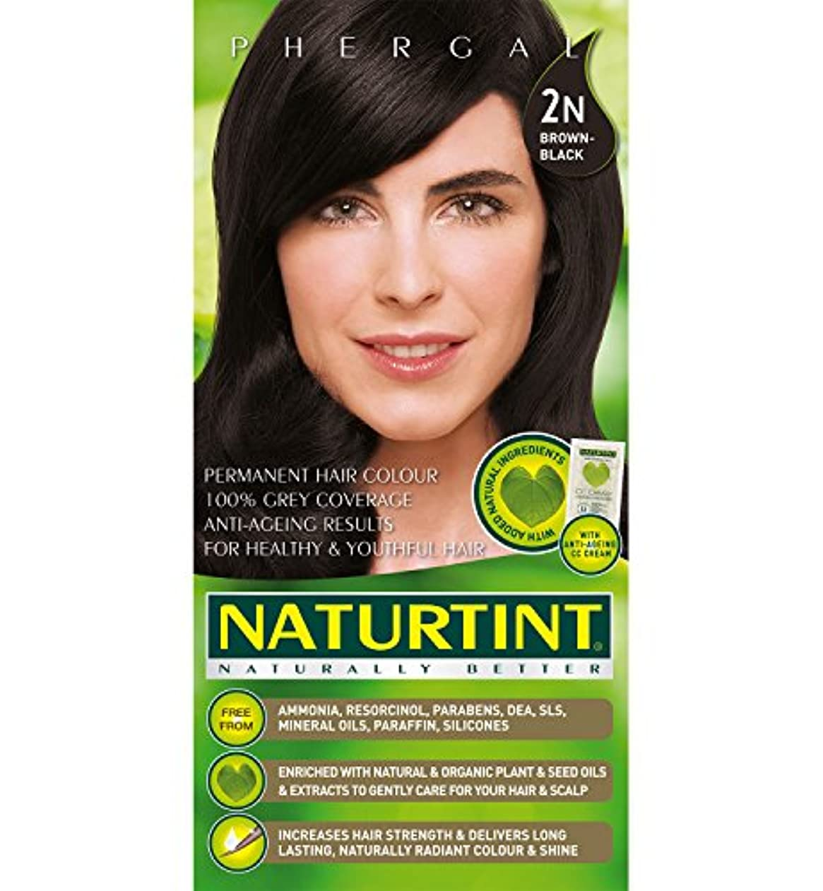 Naturtint Hair Color 2N Brown Black Permanent (並行輸入品)