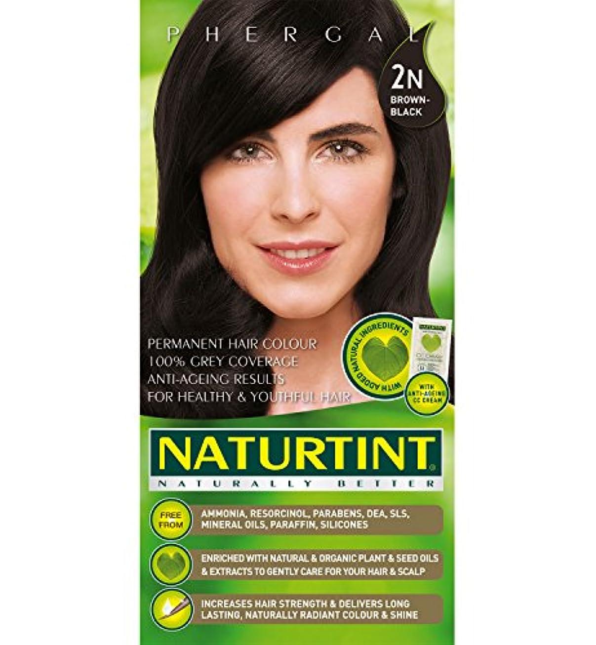 社会主義ふつうNaturtint Hair Color 2N Brown Black Permanent (並行輸入品)