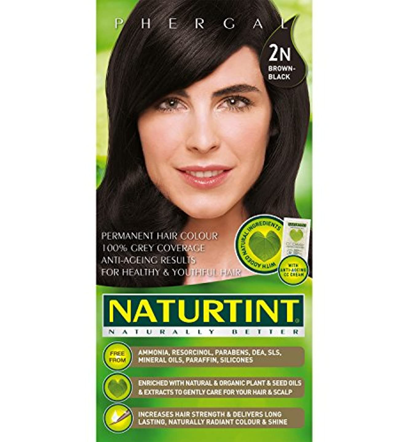 カニスラムペインギリックNaturtint Hair Color 2N Brown Black Permanent (並行輸入品)