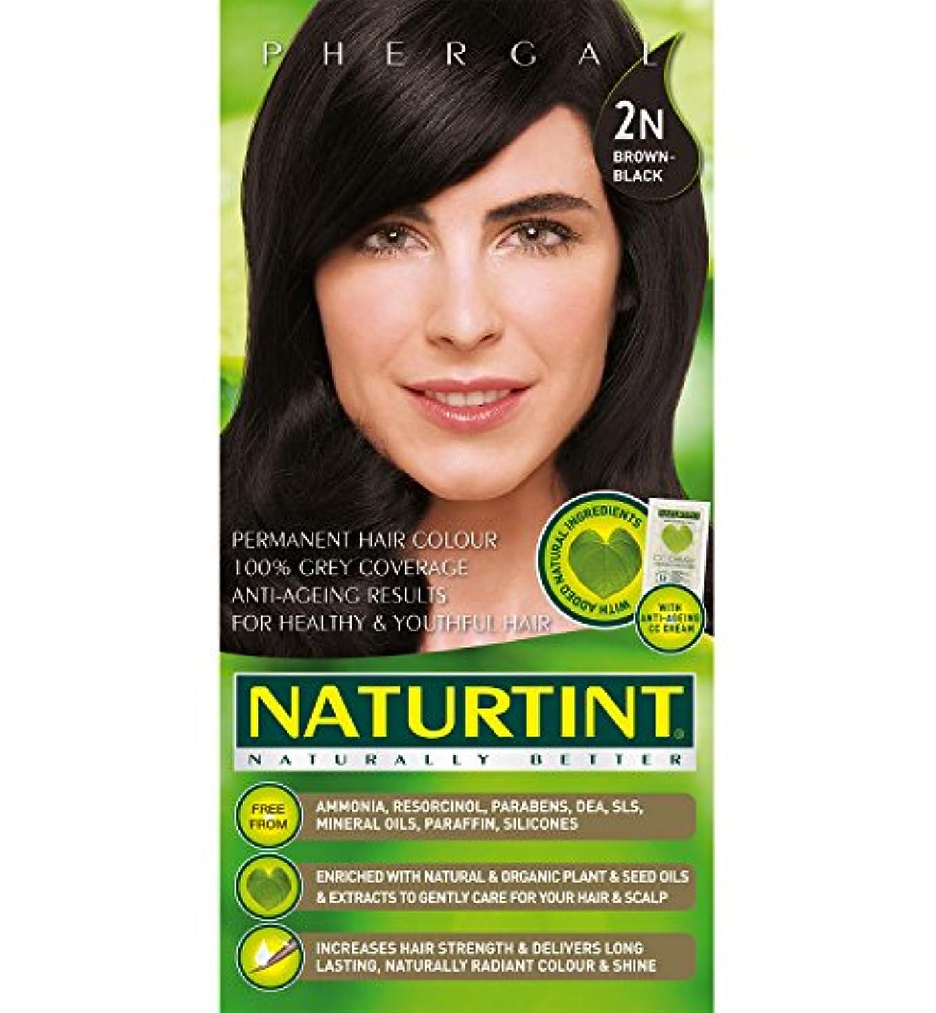 余暇量ホームレスNaturtint Hair Color 2N Brown Black Permanent (並行輸入品)