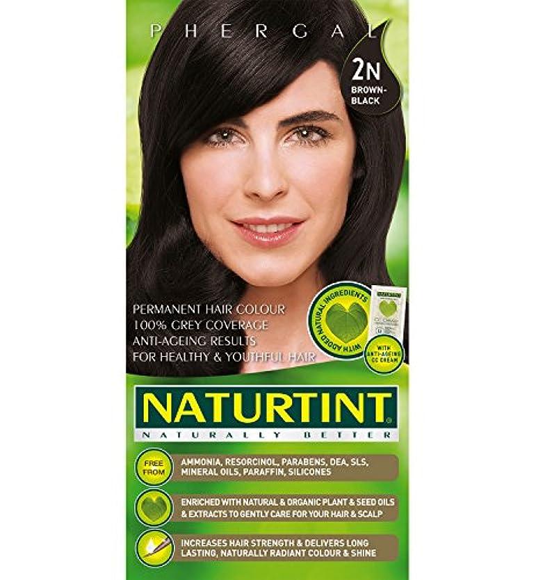 まだら賛美歌踏みつけNaturtint Hair Color 2N Brown Black Permanent (並行輸入品)