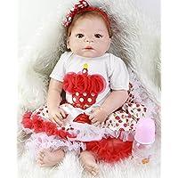 レッドスキン23インチフルボディシリコンRebornベビー人形with RootedモヘアTure to Life Reborn Girl Doll Toy for Sale子供クリスマスギフト