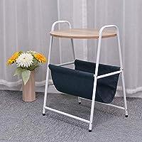 調節可能な ベッドサイドデスク、丸い小さなコーヒーテーブルベッドルーム収納棚 回転することができます (色 : 1, サイズ さいず : 45*38*60cm)