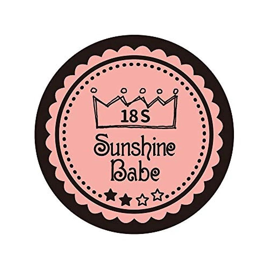 戦略休憩パキスタン人Sunshine Babe コスメティックカラー 18S ロマンティックベリー 4g UV/LED対応