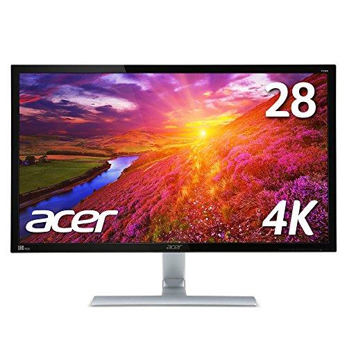 Acer 4K モニター ディスプレイ RT280Kbmjdpx 28インチ 3840x2160/TN/1ms/スピーカー内蔵/HDMI端子対応