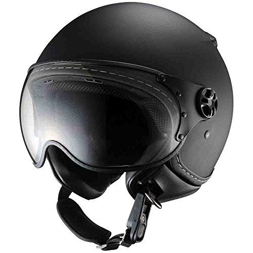 シレックス (Silex) ジェットヘルメット バーキン(BARKIN) レギュラー2 マッドシャインブラック フリーサイズ(57-59cm) ZZ210K-RMBK